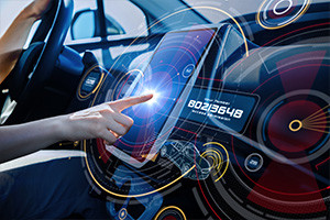 a vehicle being protected from cyber security attacks in real time