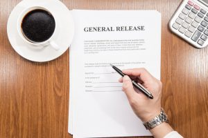 a person about to sign a general release contract